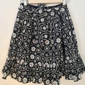Kate Spade Navy Eyelet Skirt